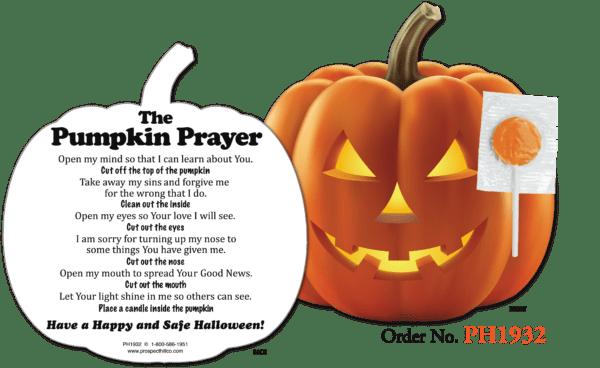 Pumpkin Prayer with Lollipop