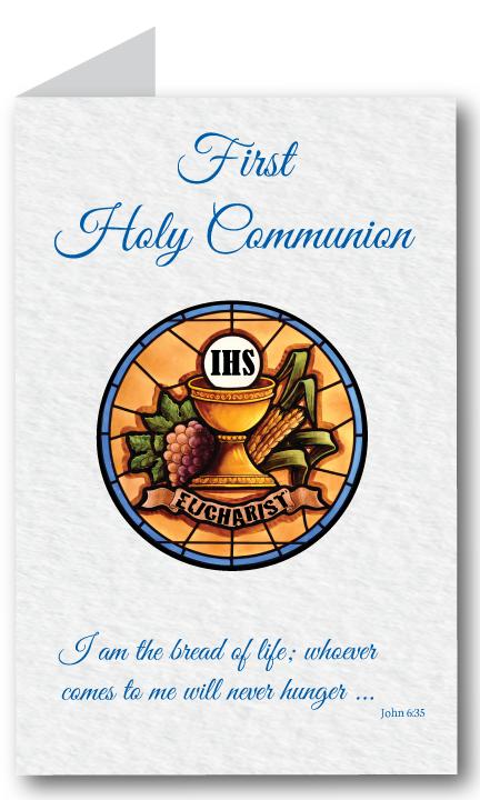 First Communion Program Cover