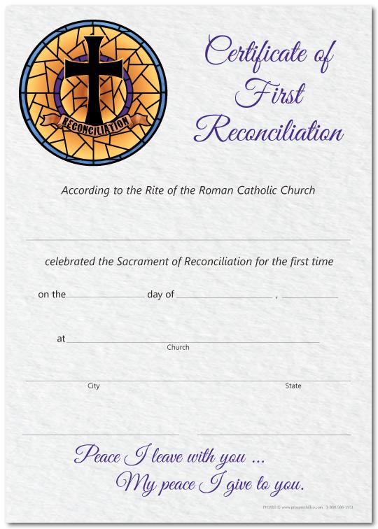 Reconciliation Certificate