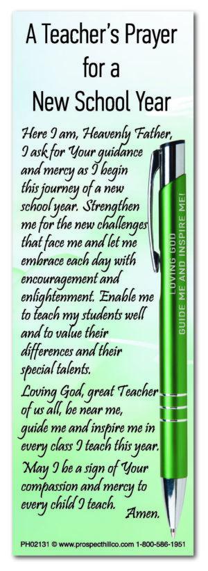 A Teacher's Prayer 2021